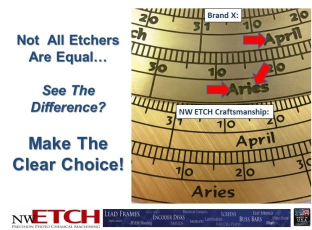 High Quality, Precision Photo Chemical Etching by NW Etch